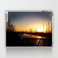 Boats at Sunset Laptop & iPad Skin