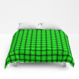 Small Neon Green Weave Comforters