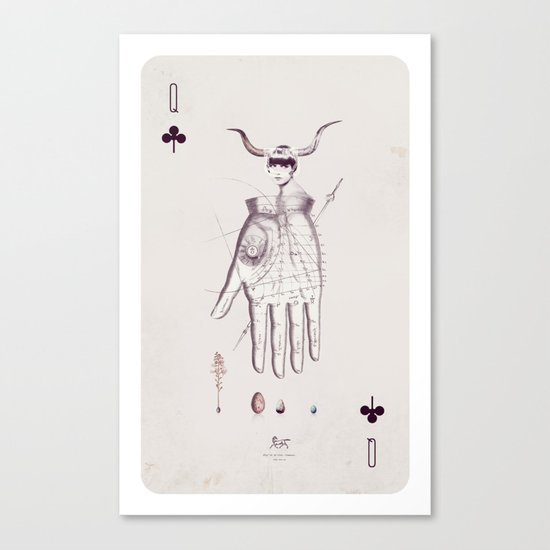 Queen of Clubs Canvas Print
