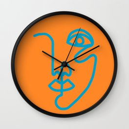 Two Faced Tangerine Wall Clock