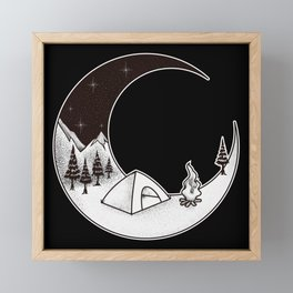 Camping Night | Outdoor Nature Starry Sky Framed Mini Art Print