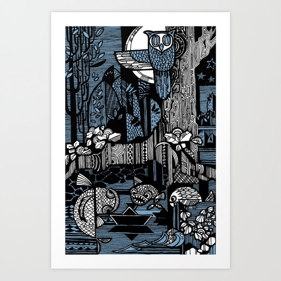 Night Art Print