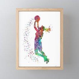 Basketball Girl Player Sports Art Print Framed Mini Art Print