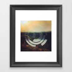 Flipped Horizon Framed Art Print