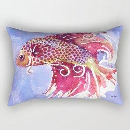 Fish Swirl Rectangular Pillow