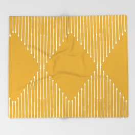 Geo / Yellow Throw Blanket