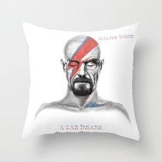 Walter White - A Lab Insane Throw Pillow