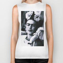 Frida Kahlo Smoke Biker Tank