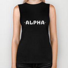 Alpha (Black on White) Biker Tank