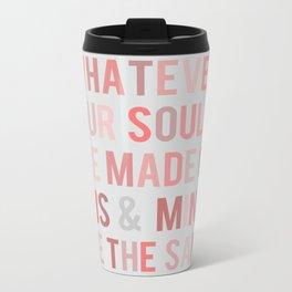 Love Quote Poster Metal Travel Mug