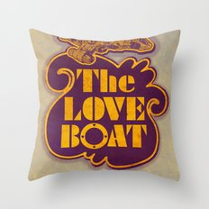 The Love Boat Throw Pillow