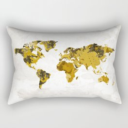 Artistic World Map IV Rectangular Pillow