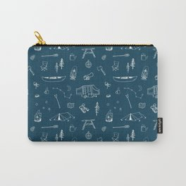 Simple Camping blue Carry-All Pouch
