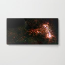 1441. A Dwarf Galaxy Star Bar and Dusty Wing Metal Print