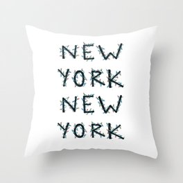 New York, New York Holiday Lights Throw Pillow
