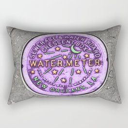 New Orleans Mardi Gras NOLA Water Meter Rectangular Pillow