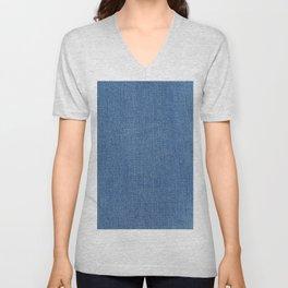 Blue Jean Fabric Unisex V-Neck