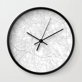 Berlin, Germany Minimalist Map Wall Clock