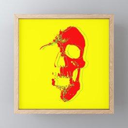 Skull - Red Framed Mini Art Print