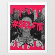 Frida's selfie Art Print