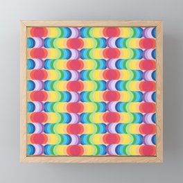 Rainbow Dragon Scales 2 Framed Mini Art Print