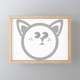 Cat Face Cat Framed Mini Art Print