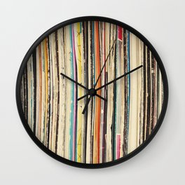 Record Collection Wall Clock