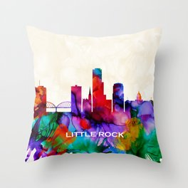 Little Rock Skyline Throw Pillow