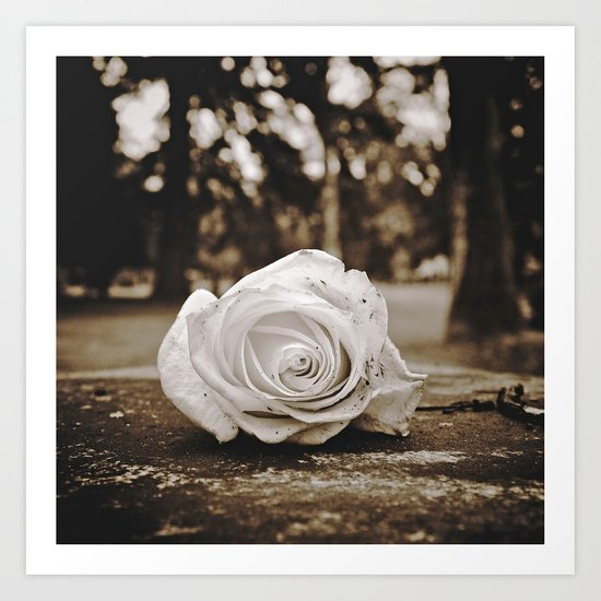 Symbolic rose Art Print