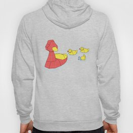 Mother Goose and her Ducklings going out for a swim Hoody