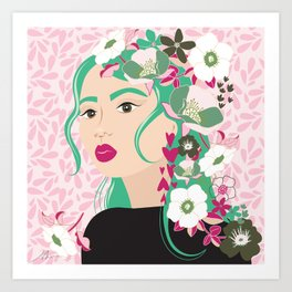 Floral & Feminine - Determined Art Print