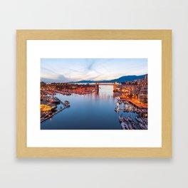 Vancouver Sunset Framed Art Print