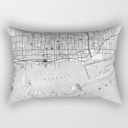 Vintage Map of Toronto (1906) BW Rectangular Pillow