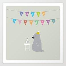 The Happy Birthday Art Print
