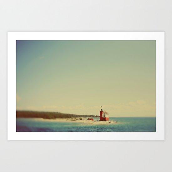 Round Island Art Print