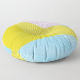 80s West Coast Colors Floor Pillow