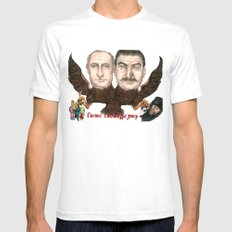 Голос свободы умер (Voice of Freedom Dies) SMALL White Mens Fitted Tee