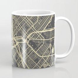 Dallas map yellow Coffee Mug