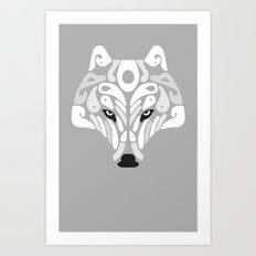 Ice Predator (Grey) Art Print