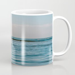 Quiet soft beach || sunset nature travel photography || pastel surf ocean waves fine art digital print Coffee Mug