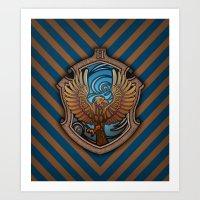 Hogwarts House Crest - Ravenclaw Book Art Print