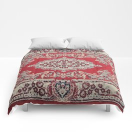 Traditional Glorious red rug Comforters