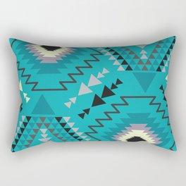 Geometry in teal blue Rectangular Pillow