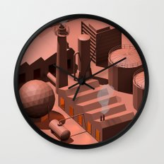 Low Poly Industry Wall Clock