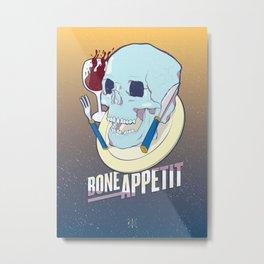 Skullture: Bone Appetit Metal Print