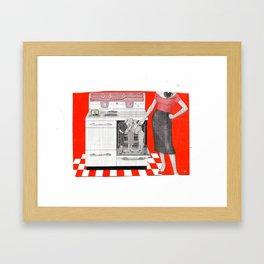 Red Hot Kitchen Framed Art Print