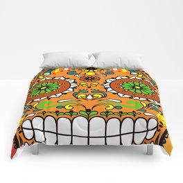 Sugar Skull #8 Comforters