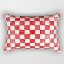 Red checkers Rectangular Pillow