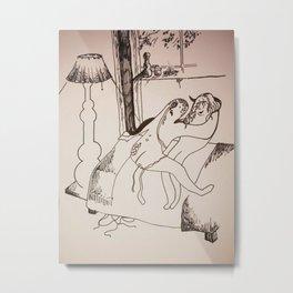 Safe Sex Metal Print