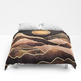 Sunkissed Mountains Comforters